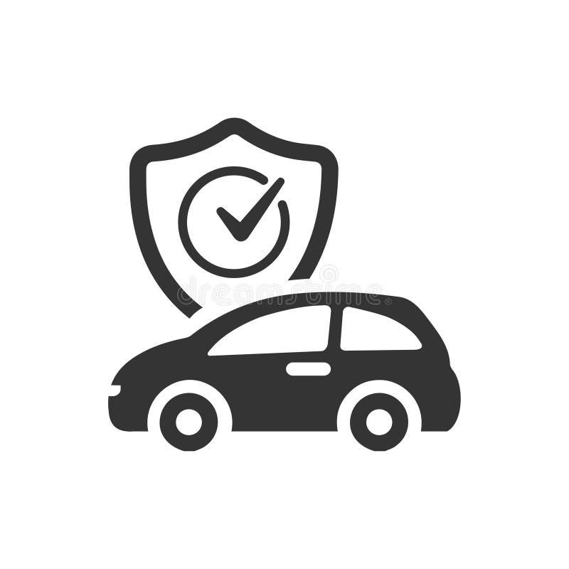 汽车保险象 库存例证
