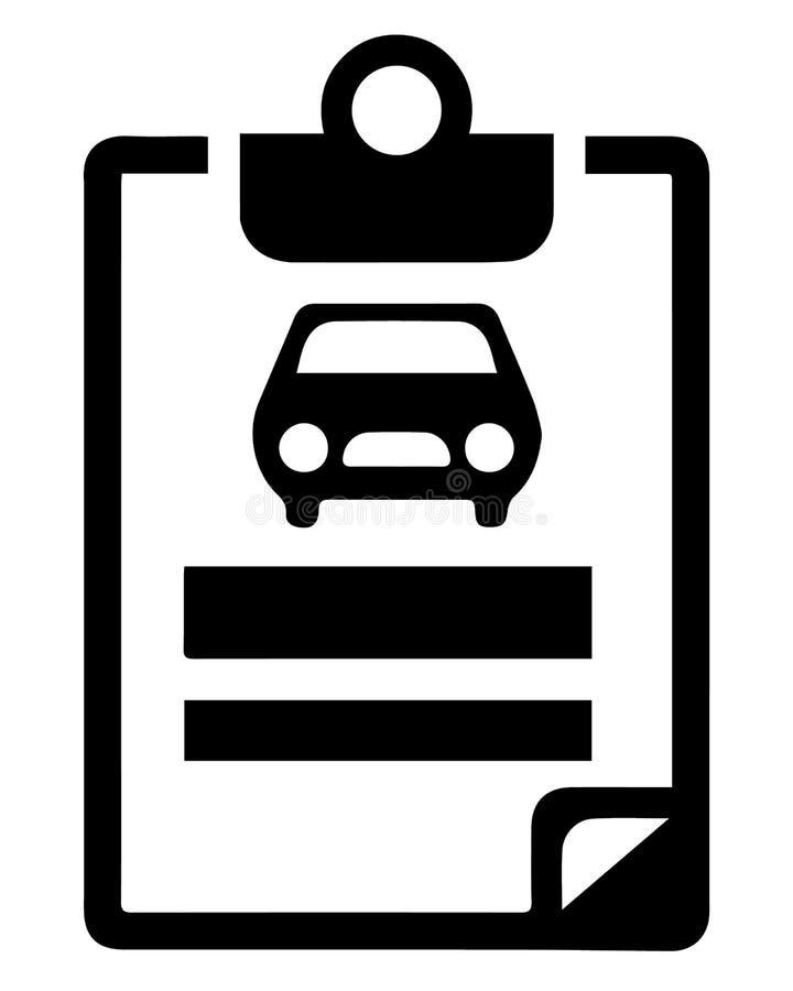 汽车保险-汽车保险象 库存例证