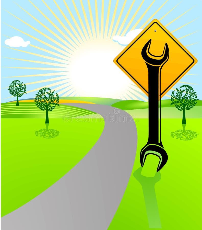 汽车修理符号 库存例证