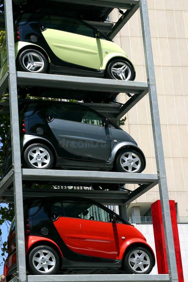 汽车停放 免版税库存图片