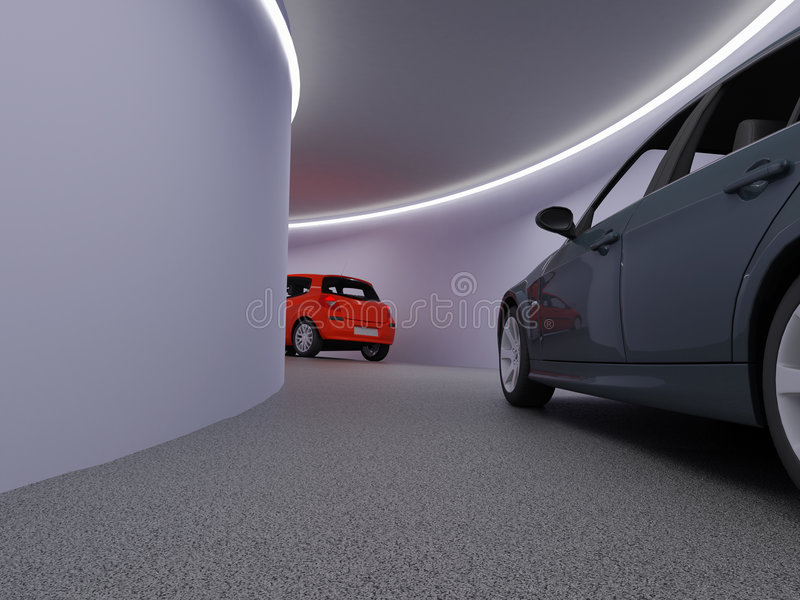 汽车停放 向量例证