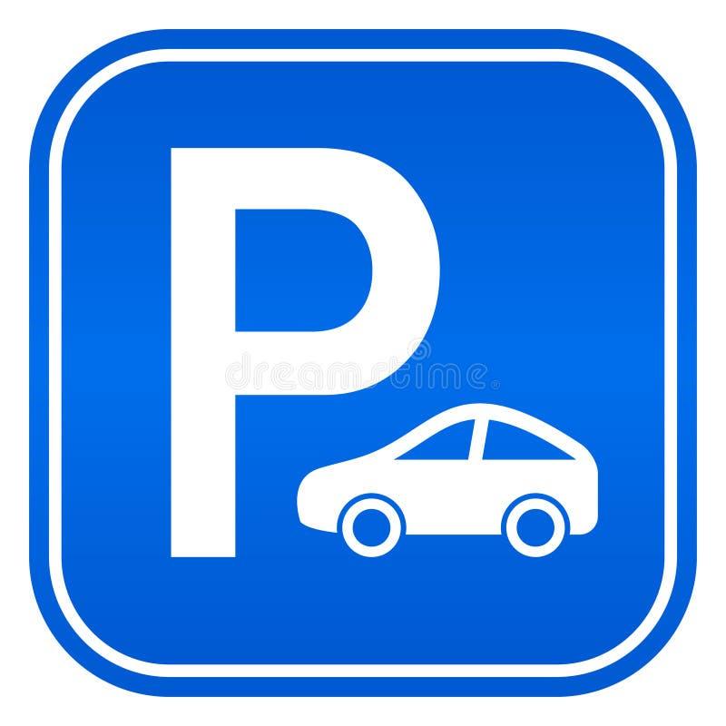 汽车停车处标志 皇族释放例证