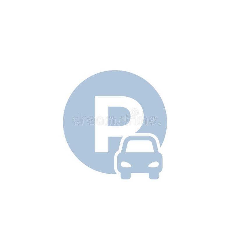 汽车停车处象 库存例证
