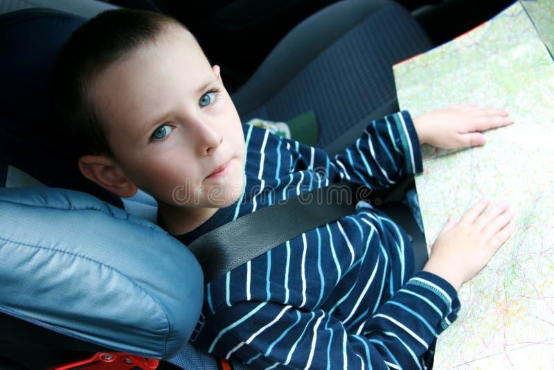 汽车儿童安全性位子 免版税库存照片