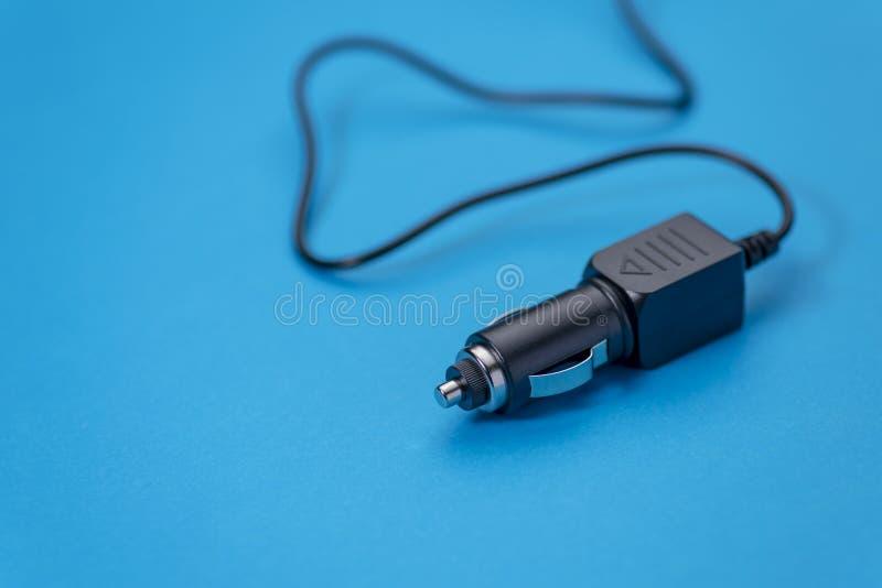 汽车充电器香烟打火机的汽车适配器 免版税库存照片