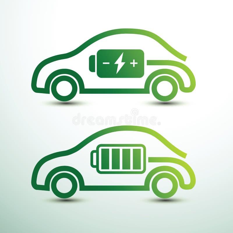 汽车充电电 皇族释放例证
