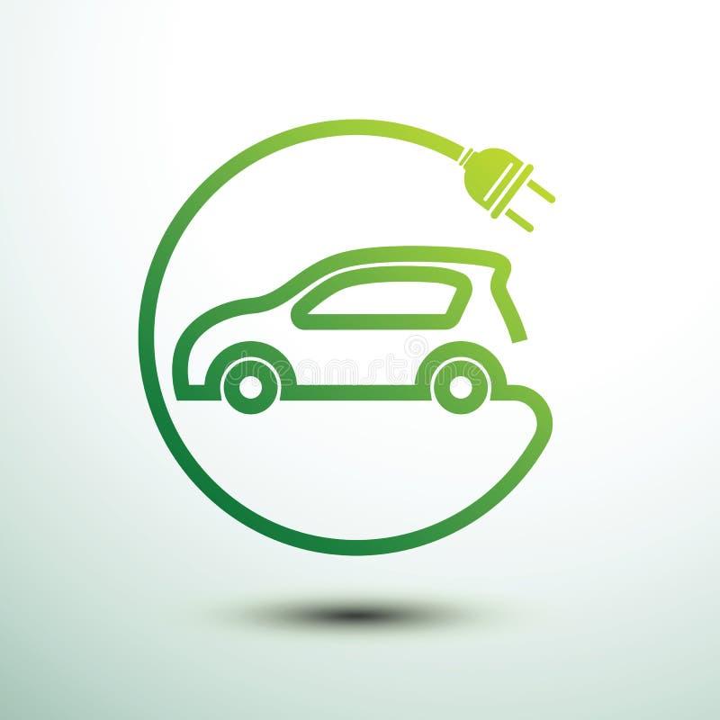 汽车充电电 库存例证