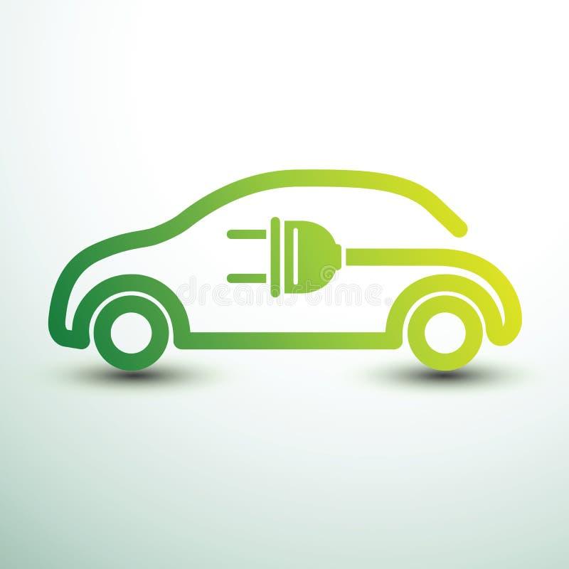 汽车充电电 向量例证