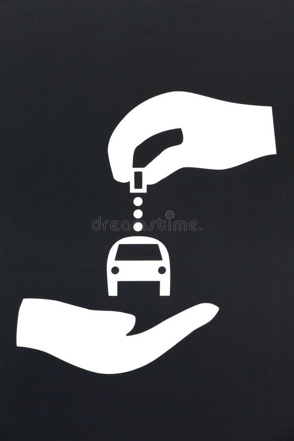汽车共用模式驻地标志 库存图片