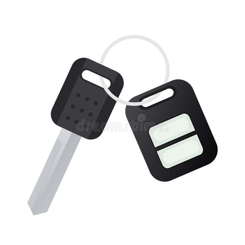 汽车关键遥控 向量例证