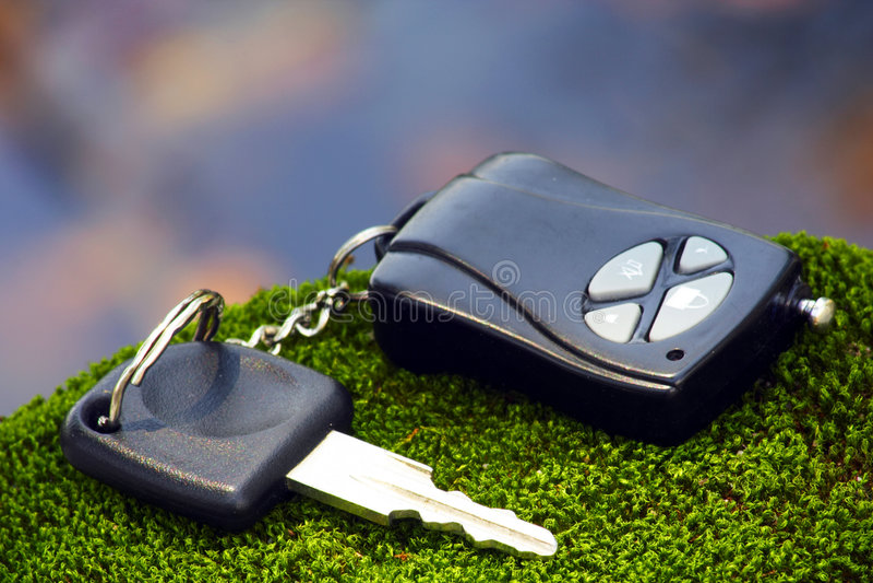 汽车关键遥控 免版税库存照片