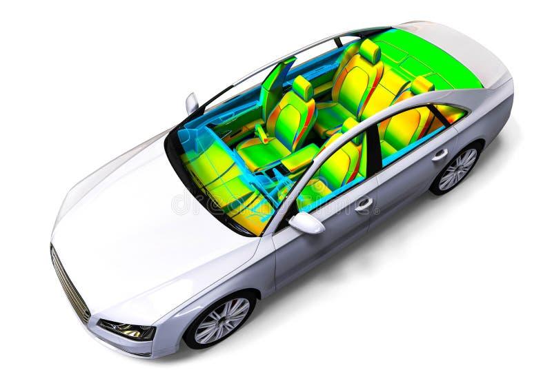 汽车内部发展过程 库存例证