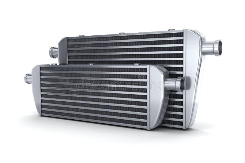 汽车冷热气自动调节机 库存例证