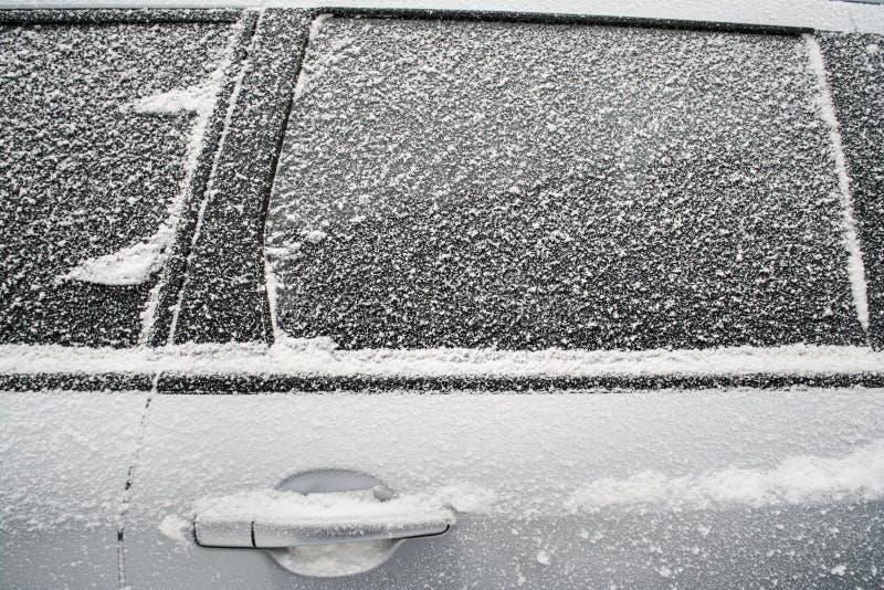 . 汽车冻结侧面窗  免版税图库摄影