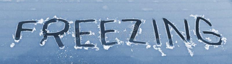 汽车冻结的视窗 库存照片