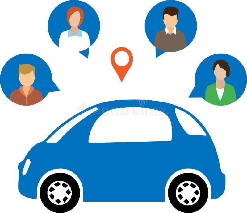 汽车分享概念 皇族释放例证