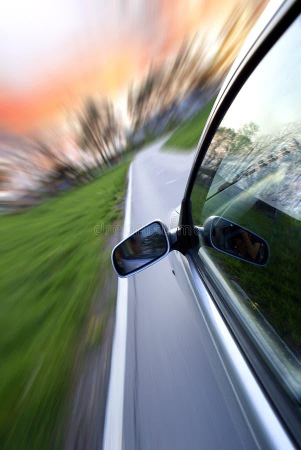 汽车加速 免版税库存图片