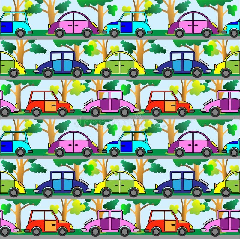 汽车动画片 库存例证