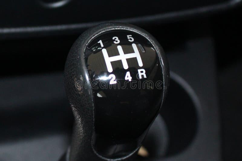 汽车变速杆 手工转移齿轮 汽车使换中档棍子 库存图片