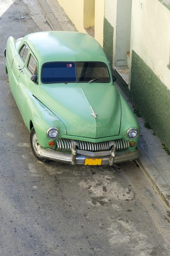 汽车古巴绿色哈瓦那 免版税库存图片