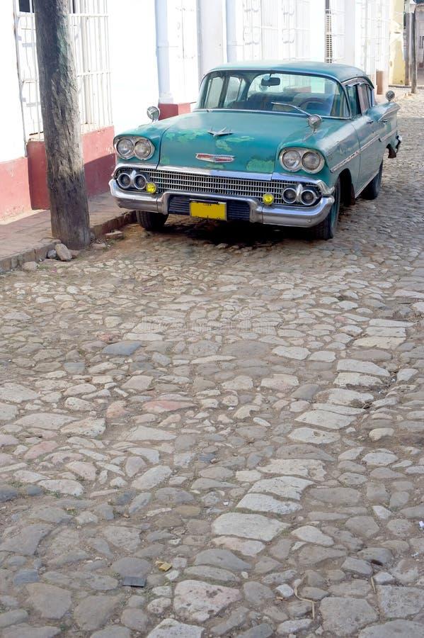 汽车古巴老特立尼达 库存图片
