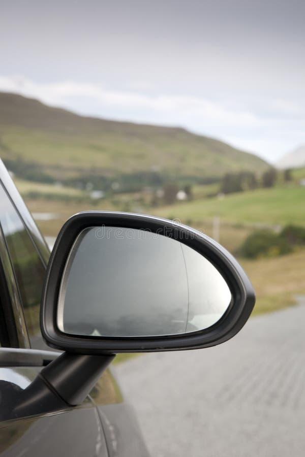汽车后视镜 库存照片