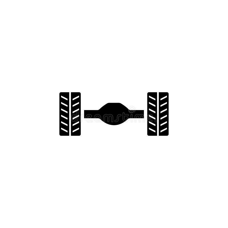 汽车后轴停止平的传染媒介象 向量例证