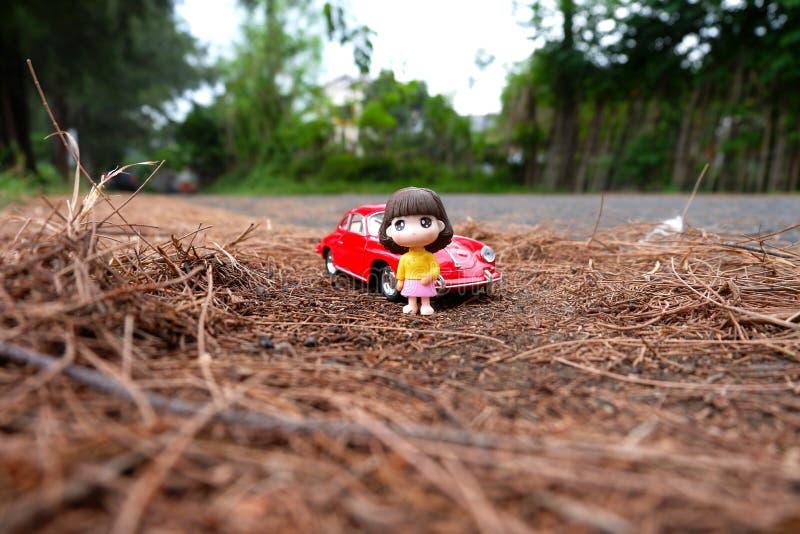 汽车和我 库存图片