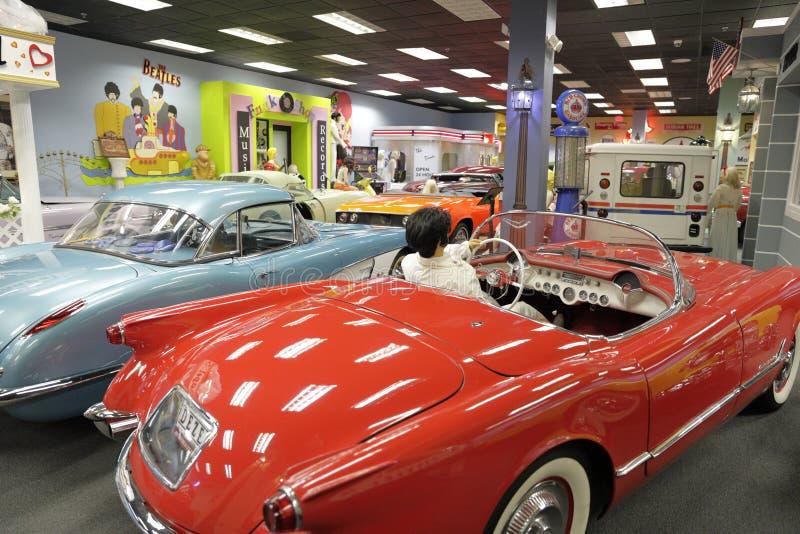 汽车和相关值得纪念的事的Dezer汇集的迈阿密自动博物馆 图库摄影