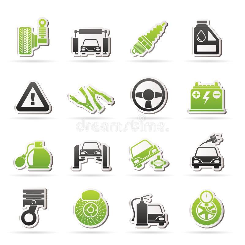 汽车和路服务象 库存例证
