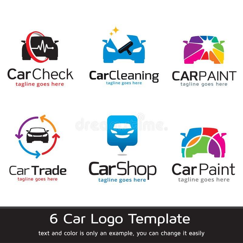 汽车商标模板设计传染媒介 皇族释放例证