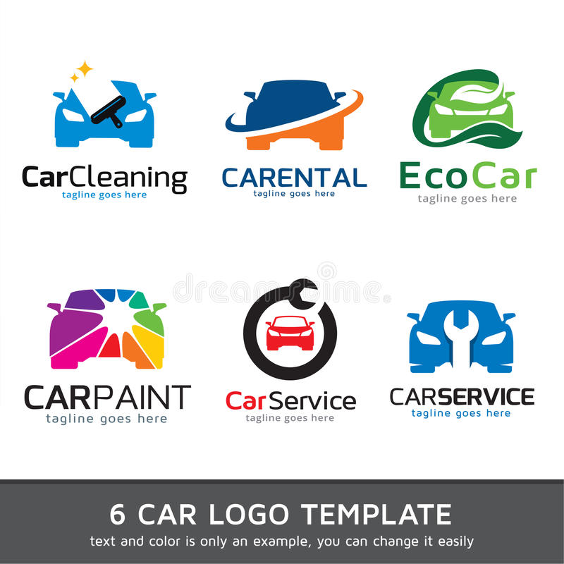 汽车商标模板设计传染媒介 向量例证