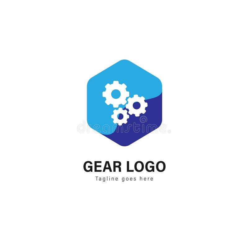 汽车商标模板设计 与在白色背景隔绝的现代框架的汽车商标 库存例证