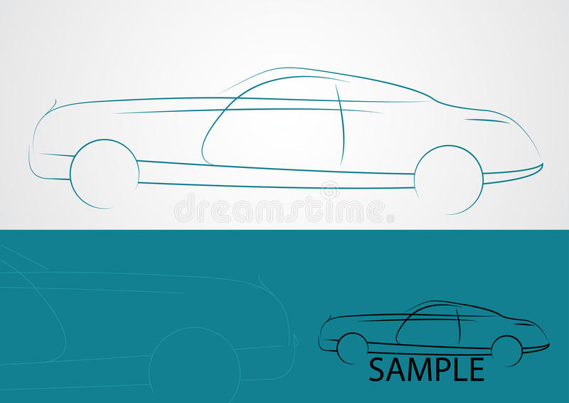 汽车商标设计 皇族释放例证