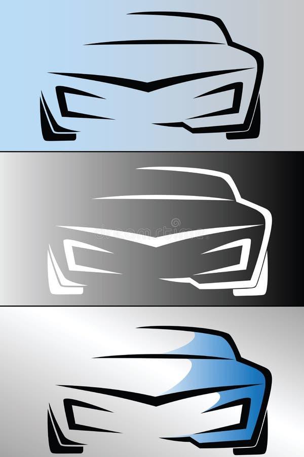 汽车商标设计 库存例证