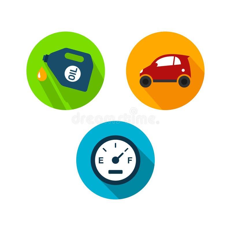 汽车商标TemplateWith平的颜色 向量例证
