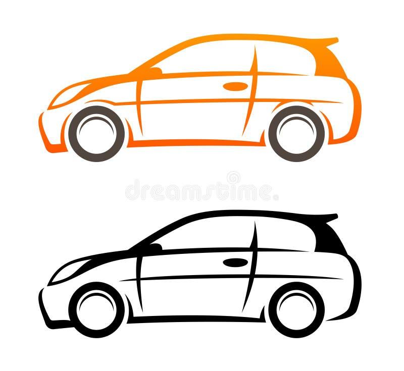 汽车图标草图向量 向量例证