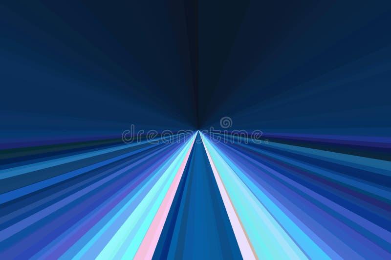 汽车在剧烈的口气的光微明的运动 抽象光芒背景 r 时髦的例证 库存例证