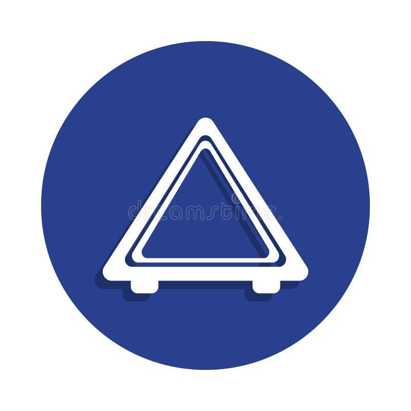 汽车在徽章样式的紧急刹车象的图片 一汽车repear汇集象可以为UI, UX使用 向量例证