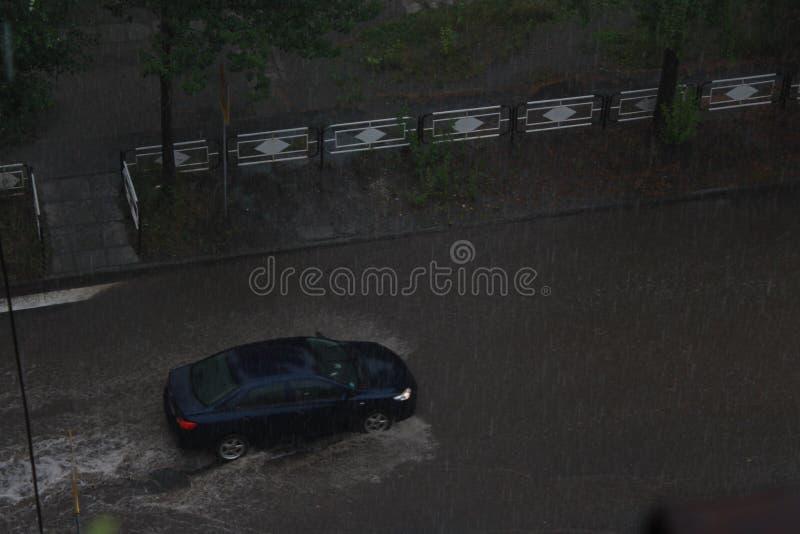 汽车在水中 图库摄影