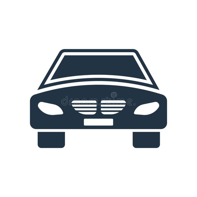 汽车在白色背景隔绝的象传染媒介,汽车标志 皇族释放例证