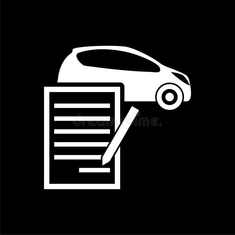 汽车在黑暗的背景的购买契约象 库存例证