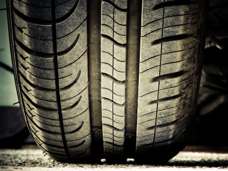 汽车地面轮胎 库存照片