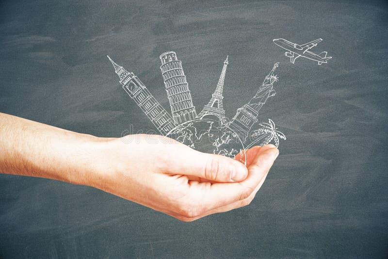 汽车城市概念都伯林映射小的旅行 免版税图库摄影