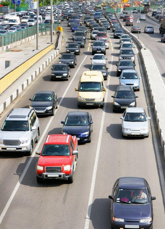 汽车城市道路 免版税图库摄影