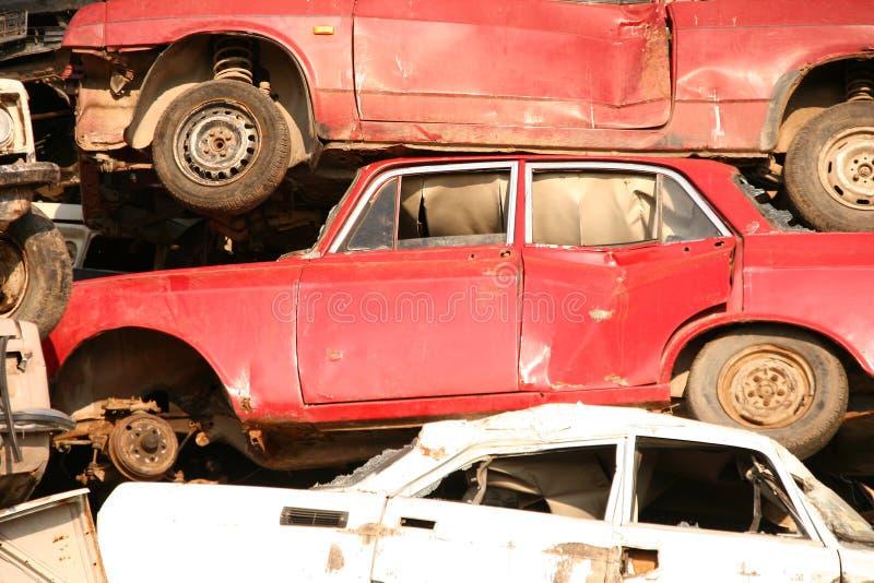 汽车堆使用 库存照片