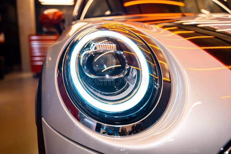 汽车外部细节宏观照片作为技术设计的 图库摄影