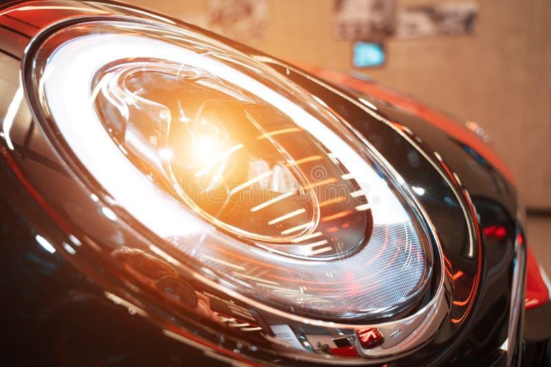 汽车外部细节宏观照片作为技术设计的 库存照片