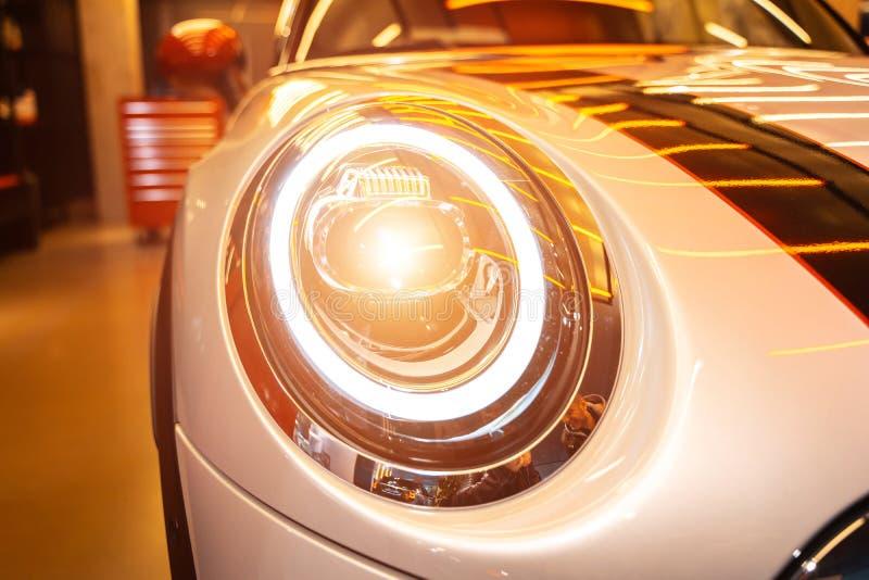 汽车外部细节宏观照片作为技术设计的 免版税库存照片