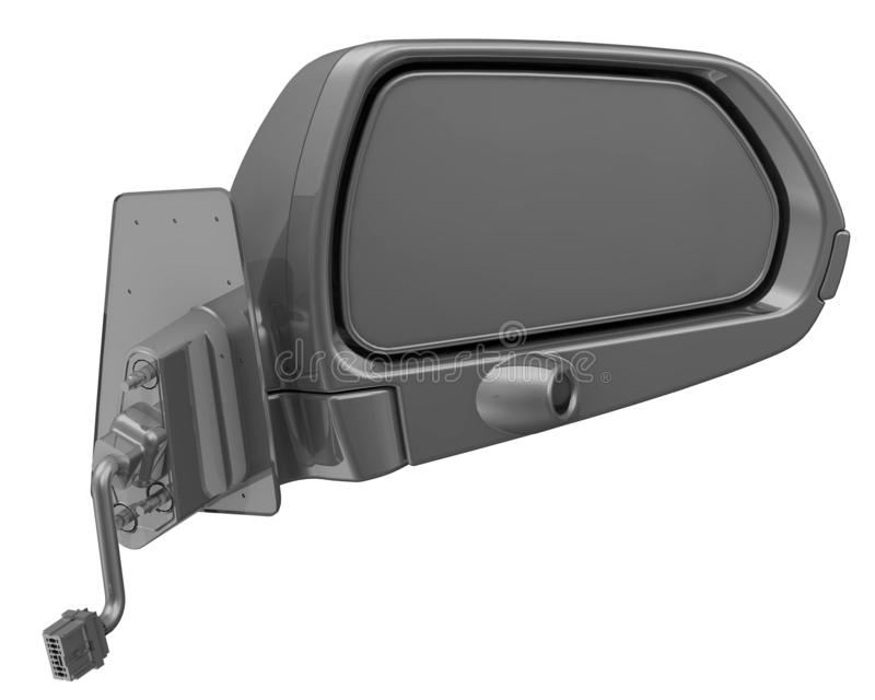 汽车外部镜子 皇族释放例证